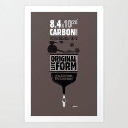 Original Lifeform - Carbon Art Print