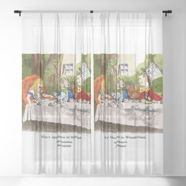 "John Tenniel, "" Alice's Adventures in Wonderland "",color ver.2 Sheer Curtain"