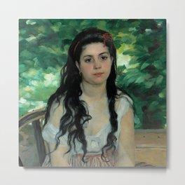 "Auguste Renoir ""En été - La bohémienne (In summer - Gypsy woman)"" Metal Print"