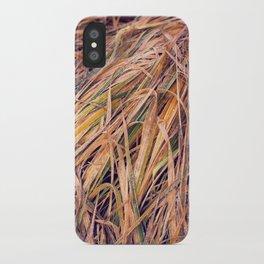 autumn grass iPhone Case
