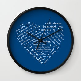 Quotes of the Heart - Doctor/Rose (White Wall Clock
