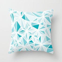 geo blue Throw Pillow