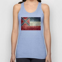 Mississippi State Flag - Distressed version Unisex Tank Top
