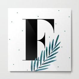 Serif - F Metal Print