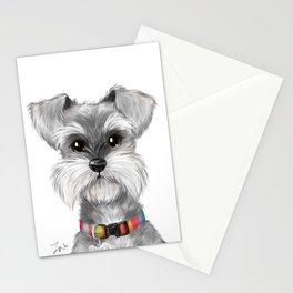 Moustache dog Stationery Cards