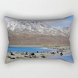 Fur Seals on the Beach Rectangular Pillow