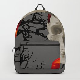 Halloween Skull with candle and trees Backpack