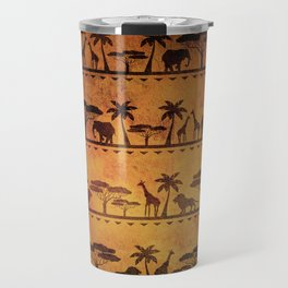 African Animal Pattern Travel Mug