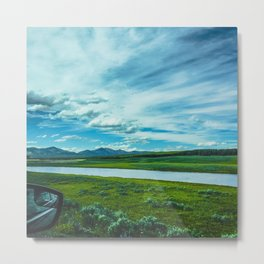 Yellowstone by Automobile (Hayden Valley Views) Metal Print