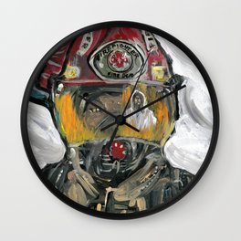 Christian fire Fighter Wall Clock