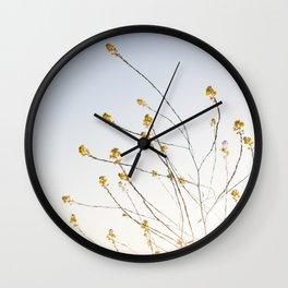 Wild Mustard Wall Clock
