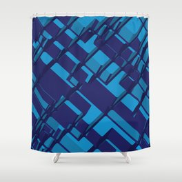 3D Abstract Futuristic Background X. 14 Shower Curtain