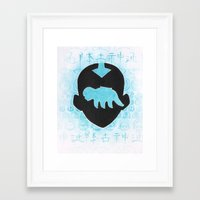 the last airbender Framed Art Prints featuring The Last Airbender by Carmen McCormick