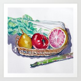 Gift Basket Art Print