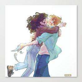 That one kiss Canvas Print