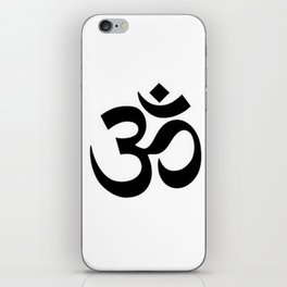 Black and White Graphic Ohm Symbol iPhone Skin