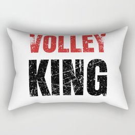 Volley King Funny Tennis Player Gift Idea Rectangular Pillow