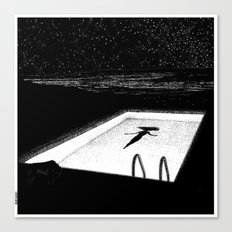 asc 593 - Le silence des cigales (The midnight lights) Canvas Print