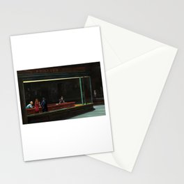 Nighthawks (oil on canvas) Stationery Cards