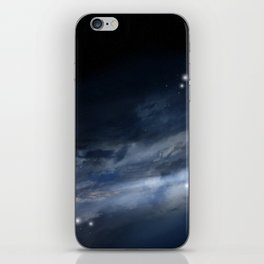blue galaxy iPhone Skin