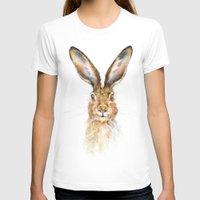 hare T-shirts featuring HARE by Patrizia Ambrosini