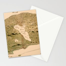 Map Of The Bahamas 1750 Stationery Cards