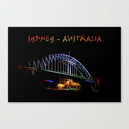 Electrified Sydney Canvas Print