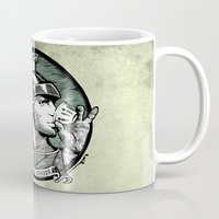 italian Mugs featuring italian express by MR VELA