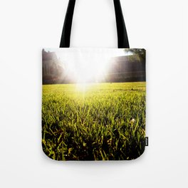 and the grass is always greener.. Tote Bag