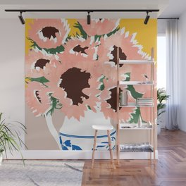 Sunshine On a Cloudy Day #painting #botanical Wall Mural