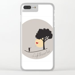 Lighthearted Clear iPhone Case