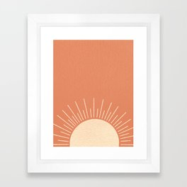 Sunrise pink Framed Art Print