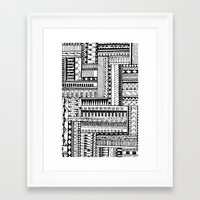 tribal Framed Art Prints featuring Tribal  by Ale Ibanez
