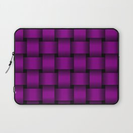 Large Purple Violet Weave Laptop Sleeve