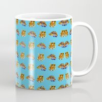 tigers Mugs featuring Tigers by Nahal