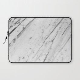 Classic White Marble #2 #decor #art #society6 Laptop Sleeve