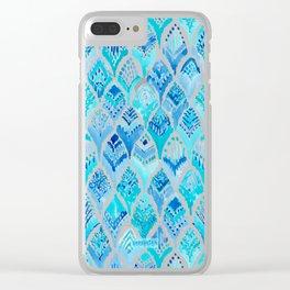 MAGICAL MERBIRD Mermaid Feather Print Clear iPhone Case