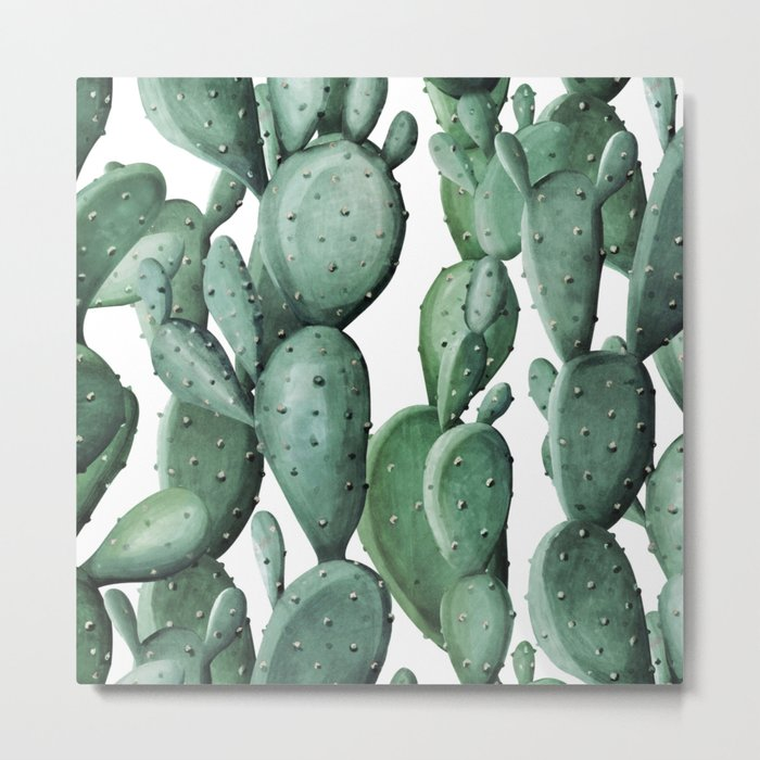 Cactus Party Metal Print