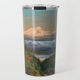 Volcán Cayambe, Ecuador Landscape Painting by Frederic Edwin Church Travel Mug