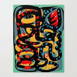 Energy Flow Abstract Art Life Canvas Print