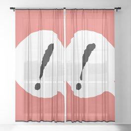 ! C Sheer Curtain