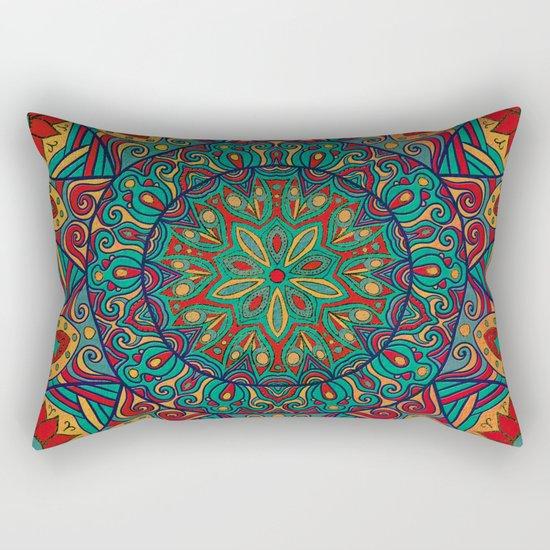 Tribal Mandala Rectangular Pillow