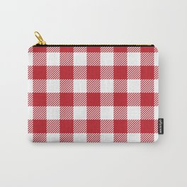 Buffalo Plaid - Red & White Carry-All Pouch