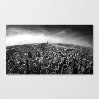manhattan Canvas Prints featuring Manhattan by Xbird