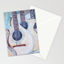 music wall Stationery Cards