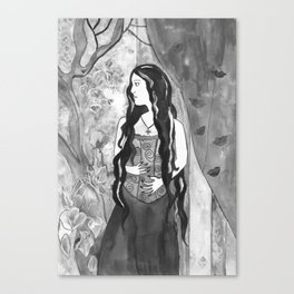 Velvet Touch - Black and White Canvas Print
