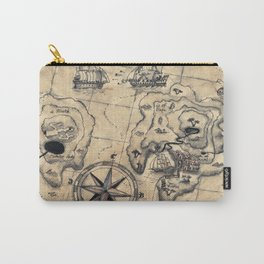 Old Nautical Map Carry-All Pouch