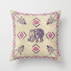 Elephant Life Throw Pillow