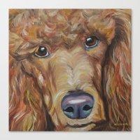 poodle Canvas Prints featuring Poodle by Melissa Smith Pet Art