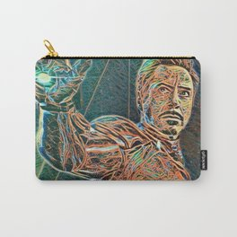 Iron Man Tony Stark Artistic Illustration Wires Style Carry-All Pouch